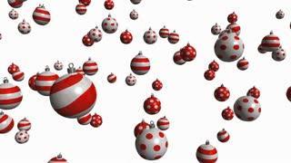 christmas balls with alpha matte