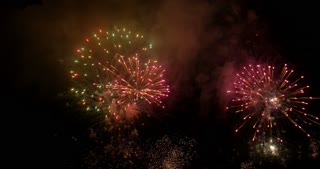 fireworks display with sound in 4K