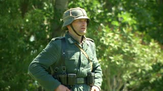 German soldiers during a WWII reenactment on 18 may 2014 in Signa, Italy