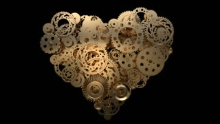 heart made of gear wheels