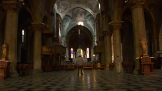 Interior view of Monza Cathedral (Monza Italy)