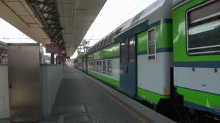 Italian commuter train at the railway station