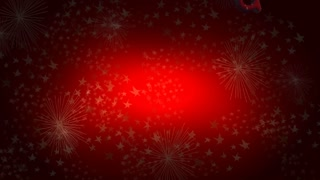 Merry Christmas on red background (loop)