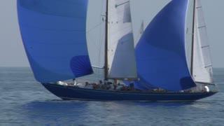 "Old sailing boat in Mediterranean Sea during the regatta ""Vele d'epoca"""