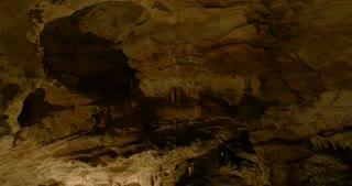 "Stalactites and stalagmites in the ""Antro del Corchia"" limestone cave, Italy"