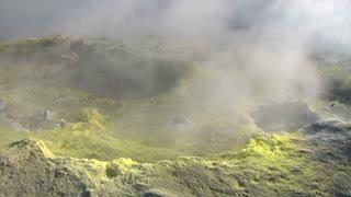 Sulfurous fumaroles, Vulcano, Italy