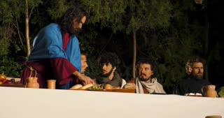 Via Crucis (Way of the Cross). Representation of Last Supper