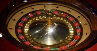 4K footage from above of a casino roulette