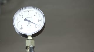 A barometer measuring the condition of the pressure...