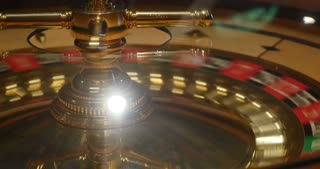 A close up shot of a casino roulette in motion