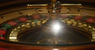 A casino roulette-the shot is moving from the right side to the left