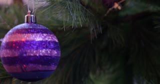 A christmas tree ball rotating on a Christmas tree...