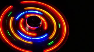 A close up footage of a led fan in motion...
