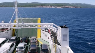 A ferry boat heading to Korcula, Croatia...