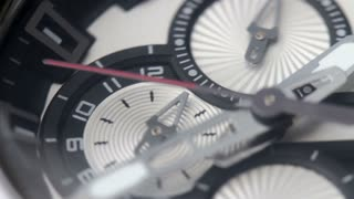 A precise countdown of a seconds hand on a watch