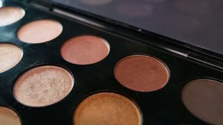 A professional make up palette, the shot is moving...