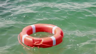 A safe buoy floating in the water