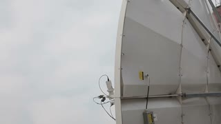 A satellite antenna searching for a better signal...