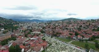 Aerial footage of Sarajevo...