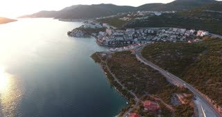 Aerial footage of the city Neum in Bosnia-Herzegovina...