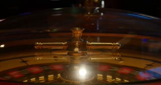 Close up footage of a casino roulette in motion...