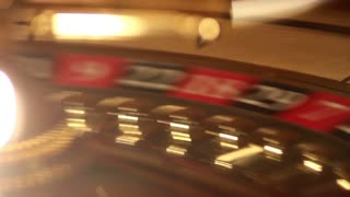 Close-up footage of a spinning casino roulette...