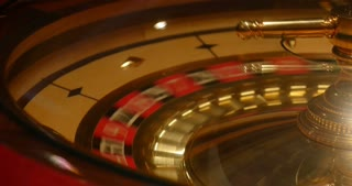 Close up shot of a casino roulette in motion a new game is being started