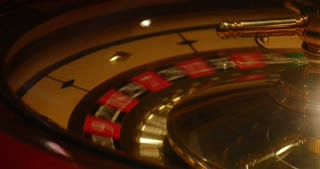 Close up shot of a casino roulette in motion-a new game is starting...