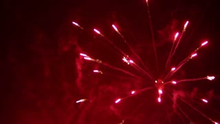 Colorful firework sparks in the sky