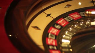 Footage of a casino roulette in motion...
