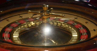 Footage of a casino roulette in motion
