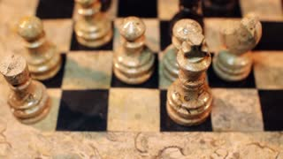 Footage of a chess game and a castling move...