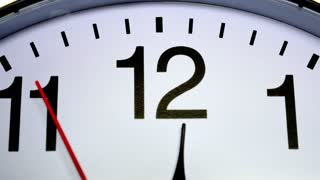 Footage of a clock and its second hand passing by...