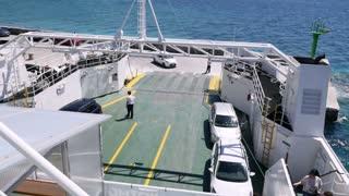 Footage of a ferryboat at Orebic, Croatia...