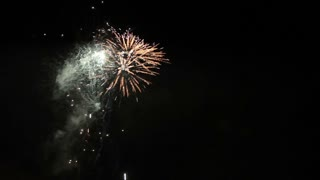 Footage of New Year´s firework in the sky, with audio...