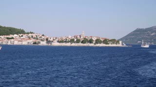 Footage of the island of Korcula, Croatia, filmed from a moving boat...