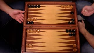 Footage of the leisure game backgammon...