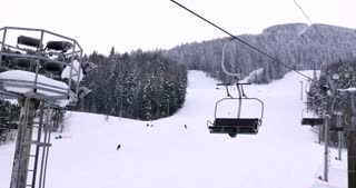 Sightseing on a ski lift...