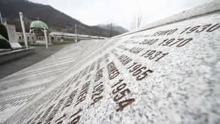 SREBRENICA, Potocari, Bosnia and Herzegovina - MARCH 15th: Memorial center in Potocari, names of the murdered men and boys during the Bosnian war, on March 15, 2016 in Srebrenica, Bosnia&Herzegovina.