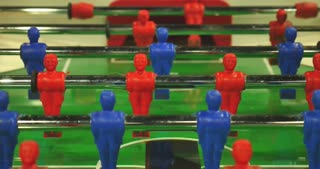 Time lapse of a table football game