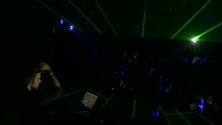 Sarajevo, Bosnia and Herzegovina - February 3rd, 2017- A DJ mixing music in a club...
