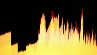 Yellow sound bars isolated on black bacground...