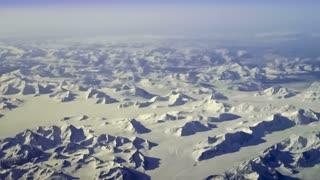 Aerial view of subarctic mountains near Kluane National Park, Yukon Territory