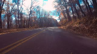 Autumn POV driving time-lapse through the Blue Ridge Parkway