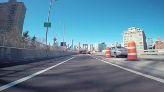 Driving over the Brooklyn Bridge in Timelapse