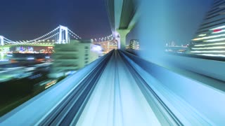 Hyperlapse through Tokyo tunnels via the automated guideway transit