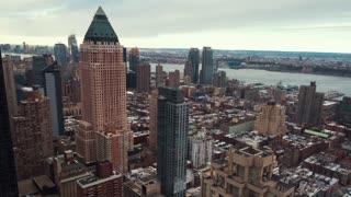 Manhattan skyline from sunrise to mid morning in timelapse
