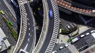 Massive highway intersection time-lapse