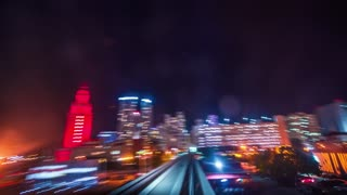 Miami Metromover Timelapse at night (4K)