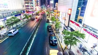 Night traffic time lapse in Shinjuku, Tokyo